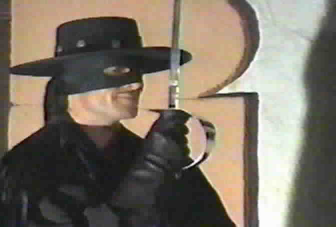 Duncan Regehr as Zorro in a publicity shot