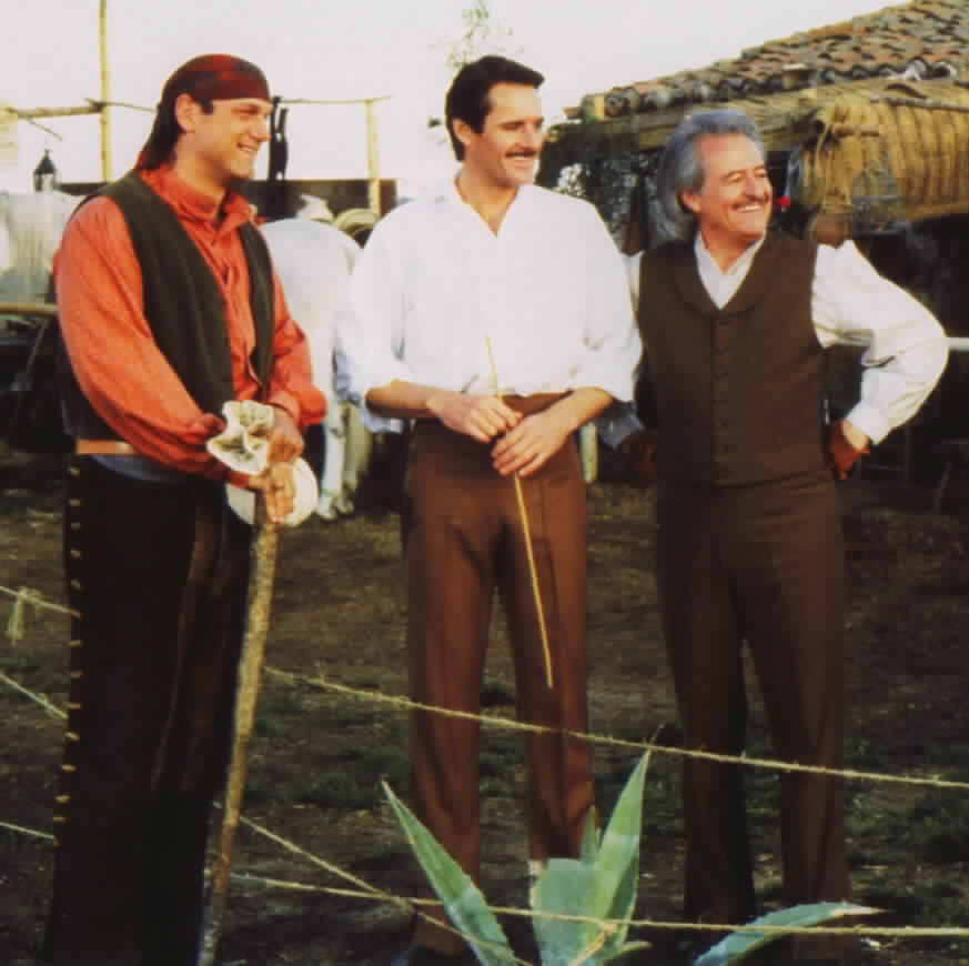 Jesse Ventura as Jim Jarrett with Duncan Regehr and Henry Darrow from the episode 'A New Beginning'