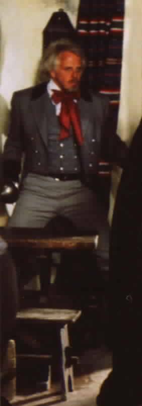 De Soto confronting Zorro in the tavern