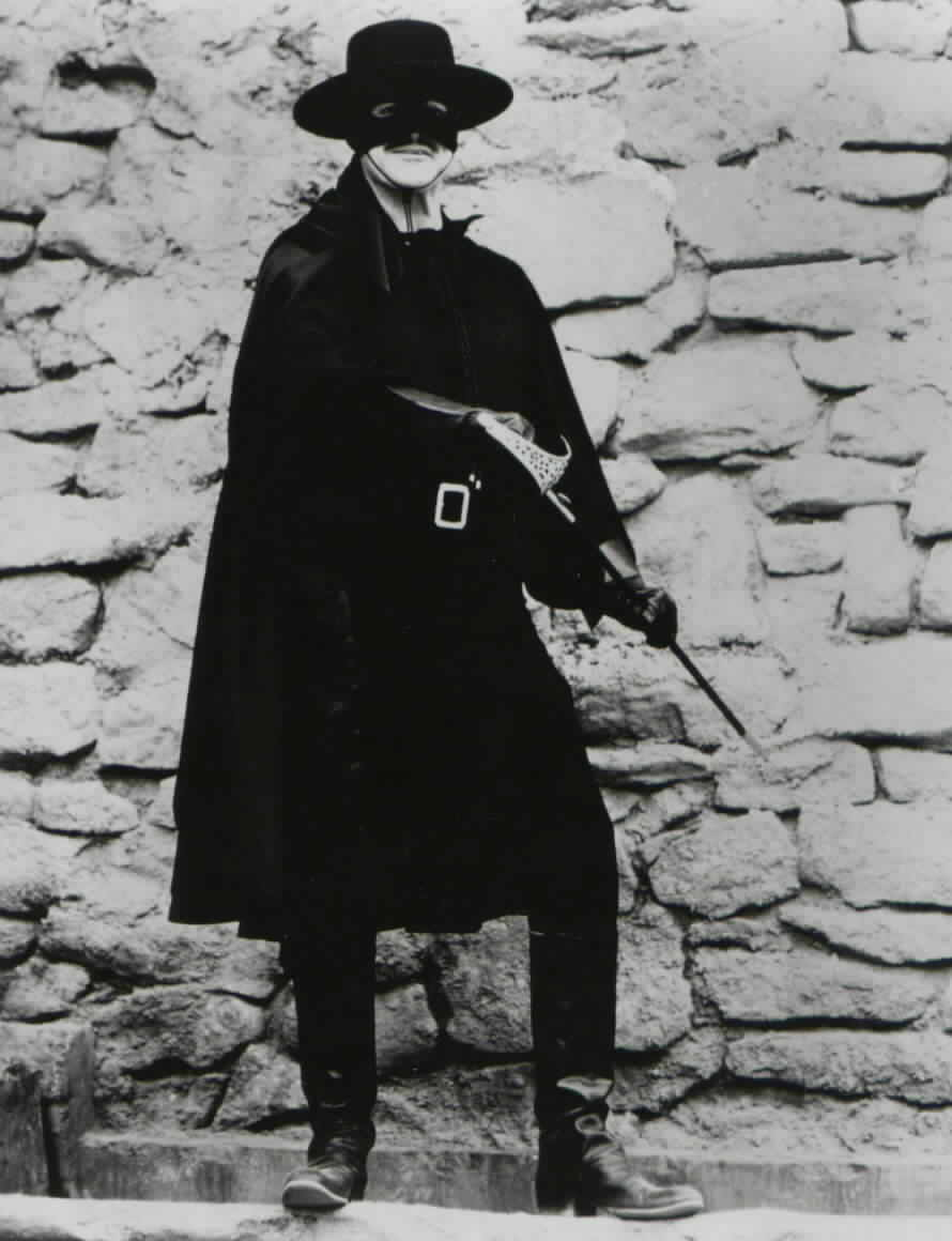 Henry Darrow dressed as Zorro in 'Zorro and Son'
