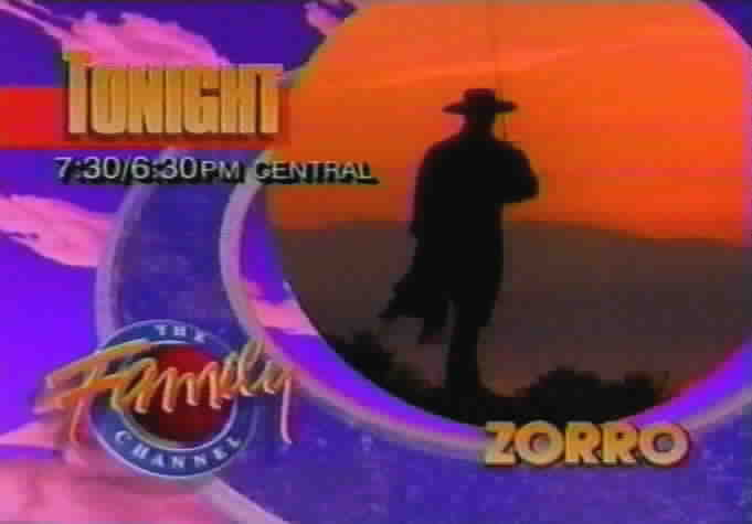 Family Channel Zorro Commercial