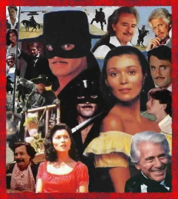 Collage of New World Zorro images